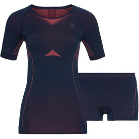 Odlo Performance Evolution Light Underwear Set Women, diving navy/siesta